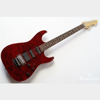 T's Guitars DST-22 Exotic Droptop / EMG / GE1996T - Trans Red