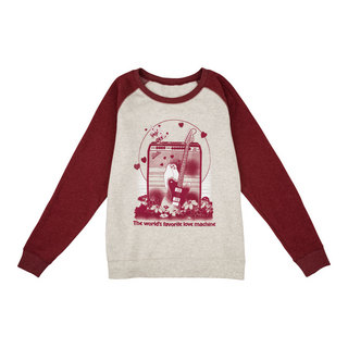 Fender Women's Love Sweatshirt Oatmeal and Maroon XLサイズ スウェットシャツ 長袖