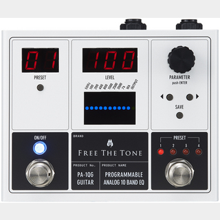 Free The TonePROGRAMMABLE ANALOG 10 BAND EQ PA-1QG デジタルイコライザー【Webショップ限定】