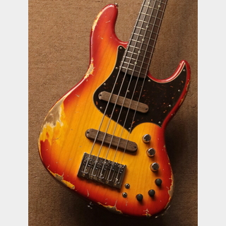 Xotic XJ-1T 5ST HEAVY AGED /ASH ROSE Cherry Burst【5弦】【おすすめ個体】