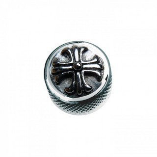 Q-PartsDOME KNOB TYPE [KCD-0110/Cross -Metal Chrome] 【展示品処分特価】