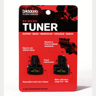 Planet Waves NS Micro Headstock Tuner Twin Pack 【PW-CT-12TP】【特価】
