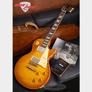 Gibson Custom Shop Historic Collection 1959 Les Paul Standard, Hand Selected Maple Top, Lightly Aged (Brown Lemon)