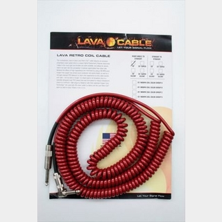 LAVA CABLELava Retro Coil Cable 6.0m S/L / Metalic Red
