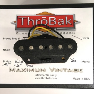 ThroBak T-54 MXV- ThroBak Tele Guitar Pickup / Bridge / Aged
