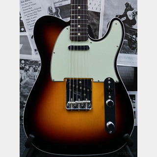 Fender Custom Shop Guitar Planet Exclusive 1960 Telecaster Custom FLASH-COAT N.O.S. -Wide Black 3 Color Sunburst-