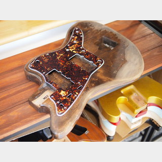 "MJT Jazzmaster Body - Alder - ""Costello"" Brown - Super Heavy Relic"