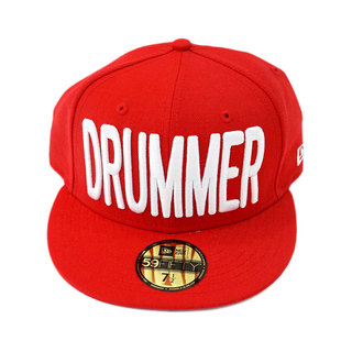 DRUMMERS TOP TEAM DTT CAP01 NEW ERA X DTT 59FIFTY RED M 7 1/2 ドラマーズトップチームキャップ