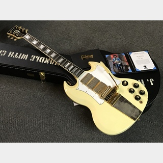 Gibson Custom Shop  Jimi Hendrix 1967 SG Custom Aged (#67124) Polaris White