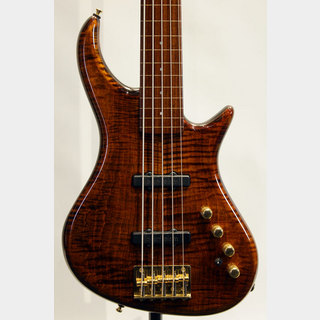 "Pedulla Rapture RBJ2-5/NPG Fretless ""3A Flame Maple"""