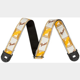 "Fender Quick Grip Locking End Strap, White, Yellow and Brown, 2""  【御茶ノ水本店】"