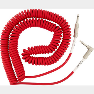 FenderORIGINAL COIL CABLE 30ft Fiesta Red シールド 9m ストレート-L