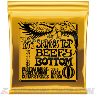 ERNIE BALL #2216 Skinny Top Beefy Bottom Slinky Nickel Wound Electric Guitar Strings 10 - 54 Gauge【ネコポス】