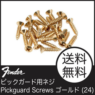 Fender Pickguard-Control Plate Mounting Screws (24) ゴールド マウント用ネジ