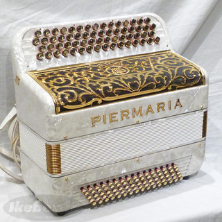 PIERMARIA 306 White Pearl Gold【ピエルマリア・アコーディオン】【純正ハードケース付き・貴重な中古品!】