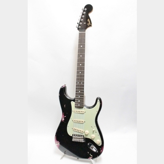 Fender Custom Shop 1969 Stratocaster Journeyman Relic w/Black Headstock / Black OverColor Pink Paisley