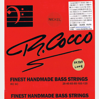 RICHARD COCCOFinest Handmade Strings Nickel Tapered RC6CX(N) 028-125 Long Scale 6-Strings ベース弦【池袋店】