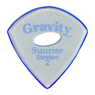 Gravity Guitar Picks Sunrise -Standard Elipse Grip Hole- GSUS2PE 2.0mm Blue ギターピック
