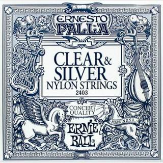 ERNIE BALL Ernesto Palla Nylon Classical #2403 Clear & Silver 28-42 【WEBSHOP】