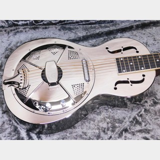 "Republic Guitars Parlor Size ""Resolian"" Polished Nickel Finish/ Diamond Cone Cover w/Electro Plate Pickup"