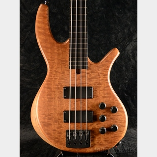 Overwater 【冬のボーナスセール】Progress Standard Bolt-on 4 Fretless -Quilted Mahogany/Walnut-