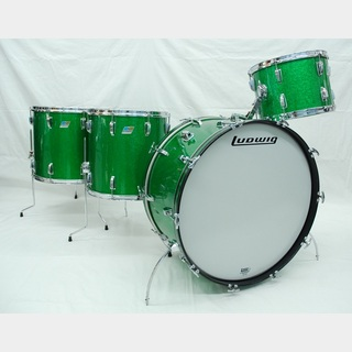 "Ludwig Ludwig 70`s B/Oバッジ 3ply 26""14""16""18"" GreenSparkle Beatoケースプレゼント"