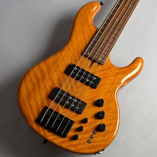dragonfly CHB-5/345 CUSTOM FLAME SAPELLI/MAHO AMBER GROSS エレキベース