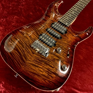 "T's Guitars DST Pro24 Carved Top ""AAAAA Flame Maple Top"" -Tiger Eye Burst- 【渋谷店】"