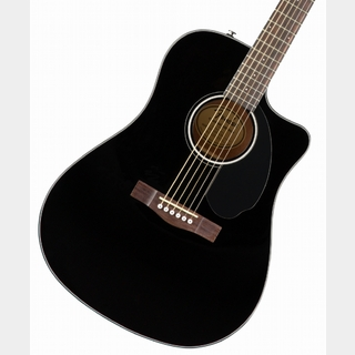 Fender CD-60SCE Dreadnought Walnut Fingerboard Black エレアコ 【WEBSHOP】