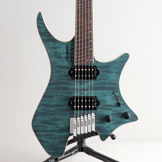 strandberg Boden J6 Custom 6A Quilted Maple Grey Blue/NMF