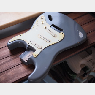MJT Stratocaster Body - Alder - Pale Grey - Medium Relic