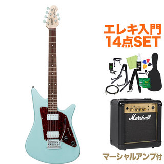 Sterling by MUSIC MAN ALBERT LEE SIGNATURE DBL エレキ初心者14点セット【マーシャルアンプ付き】