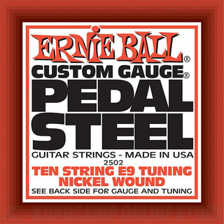 ERNIE BALL  #2502 Pedal Steel 10-String E9 Tuning Nickel Wound Electric Guitar Strings