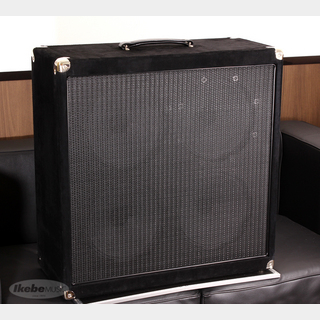 String Driver Hand Made 4x10 Custom Cabinet, Black Suede w/Kirk Fletcher Signed (#2)