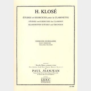 Leduc 【クラリネット教則本】 Klose,H.E./ Exercices journaliers 〈 クローゼ / 日課練習課題 〉