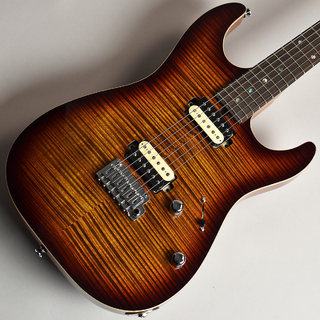 T's Guitars DST-DX22 Roasted Quartersawn Maple Neck Tiger Eye Burst S/N:031650 【杢目選定品】【未展示品】