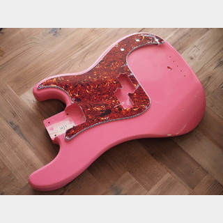 MJT Precision Bass Body - Swamp Ash - Shell Pink - Light Relic
