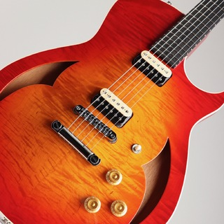 Marchione Guitars Semi Hollow Figured Maple Mahogany Cherry Burst
