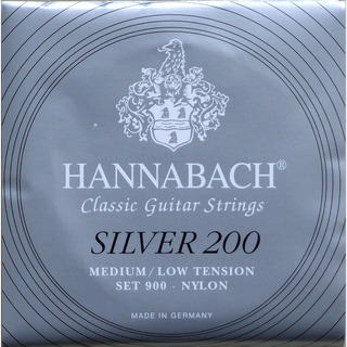 HANNABACH Silver 200 MEDIUM/LOW TENSION クラシックギター弦×12セット