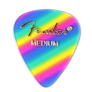 Fender 351 Shape Premium Picks Medium Rainbow ピック×36枚