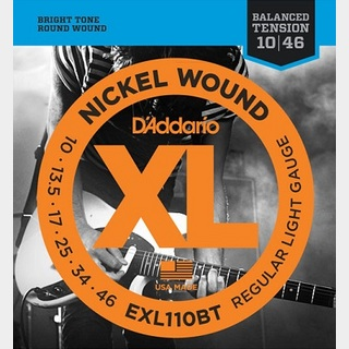 D'Addario EXL110BT XL NICKEL Electric Guitar Strings Balanced Tension Regular Light 10-46 【渋谷店】