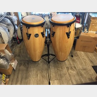 LP LPA646-AW 【 LP Aspire 10″ & 11″ Conga Set Wood with Double Stand 】【激安特価半額!】