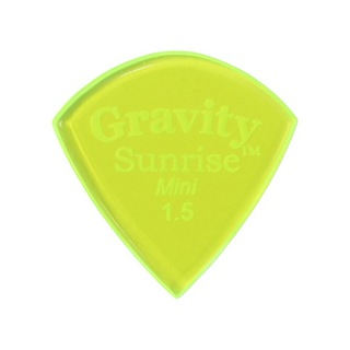 Gravity Guitar Picks sunrise -Mini- GSUM15P 1.5mm Fluorescent Green ピック