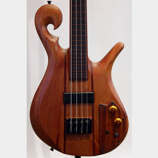 "Carl Thompson 4string Scroll Bass / 32"" Fretless Bolt-on"