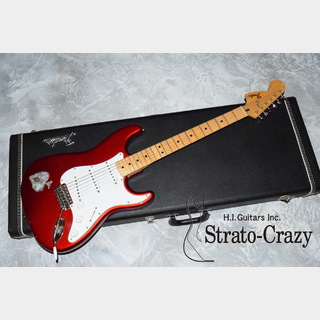 "Fender Early 70s Candy Apple Red/""Lefty"" Maple neck with Shell Inlay ""Collector's Vintage"" Compo Stratocast"