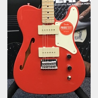 Squier by Fender Paranormal Carbronita Telecaster Thinline-Fiesta Red-【数量限定品】【1本のみの入荷!!】