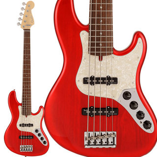 Fender Made In Japan Limited Deluxe Jazz Bass V (Crimson Red Burst)