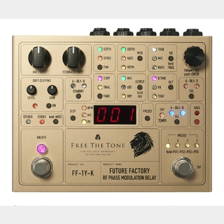"Free The Tone FUTURE FACTORY FF-1Y-K ""Ken(L'Arc~en~Ciel) Signature Model"" 【1月23日で受付終了】【完全受注生産品】"