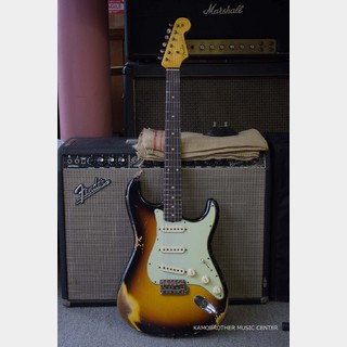 Fender Custom Shop 2020 Custom Collection 1960 Stratocaster Heavy Relic -Faded Aged 3-Color Sunburst-