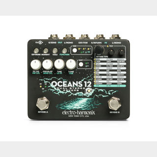 Electro-Harmonix OCEANS12 [Dual Stereo Reverb] 【5月22日入荷予定】